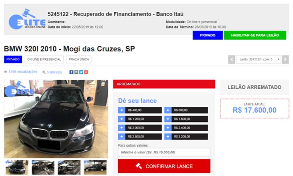 Morador de Santos cai em golpe de site de leilões e perde R$ 18 mil ao tentar comprar carro de luxo